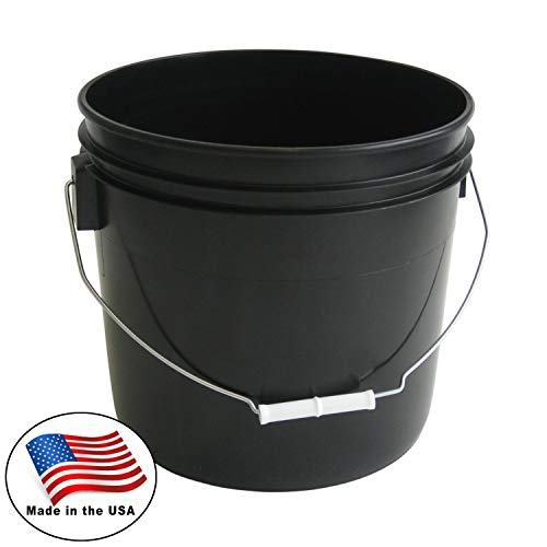 3.5 Gallon Heavy Duty Black Plastic Bucket, 10-Pack - Argee RG503BLK/10
