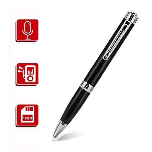 16GB Digital Voice Recorder, Portable Digital Voice Activated Recorder, Audio Recording Device with MP3 Player for Meetings Classes Interviews Lectures