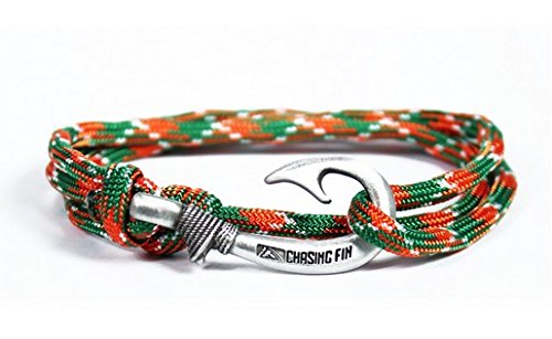 Chasing Fin Adjustable Bracelet 550 Military Paracord with Fish Hook Pendant, Celtic by Chasing Fin (Image #1)