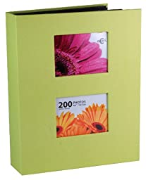 Kiera Grace Photo Album, Holds 200 4-Inch by 6-Inch Photos, Celery