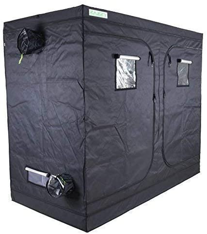 GreenHouser 60 x48 x80 Garden High Reflective Mylar Hydroponics Multi-Chamber 2-in-1 Grow Tent Room Box for Indoor Planting Removable Water-Proof Floor Tray