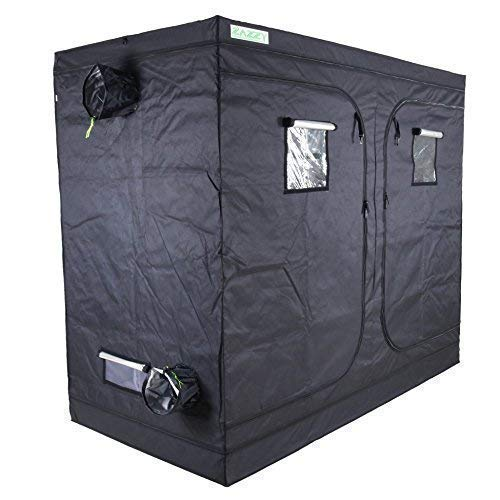 "Zazzy 96""X48 X78 Plant Growing Tents 600D Mylar Hydroponic Indoor Grow Tent for Plant Growing"