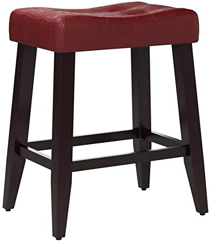 "Used, 2 24"" Red Cushion Kitchen Counter Dining Saddle Back for sale  Delivered anywhere in USA"