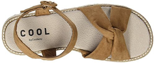 COOLWAY Women's Kitty Platform Sandals Brown (Cue 300) ixjsif
