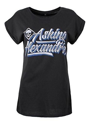Asking Alexandria Script T-Shirt Femme manches retroussées