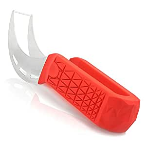 Watermelon Slicer & Tong by Sleeké - New Extended Silicone Cushioned Handle Made to Slice and Serve with Ease - No Mess, Less Stress