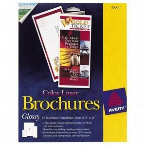 (Brochure Paper Glossy 81/2 x 11 White 50 Sheets/Pack )