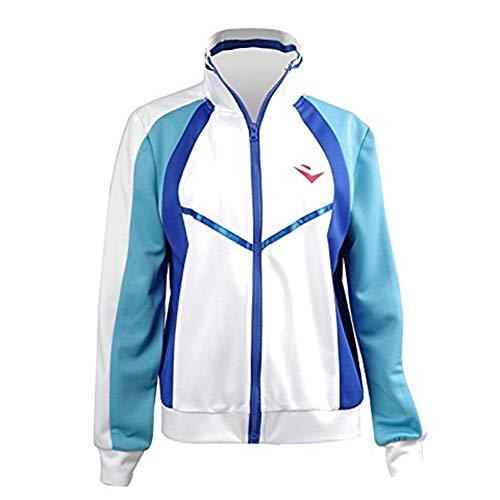 Ya-cos Free! Iwatobi Swim Club Haruka Nanase Jacket Iwatobi High School Uniform Costume,White,Medium