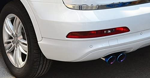 New 2pcs Blue Color Stainless Steel Tailpipe Exhaust Muffler Rear Tail Pipe Tip Cover Trim Custom Fit For Hyundai Elantra 2012 2013 2014 2015 2016 2017 2018 2019 2020
