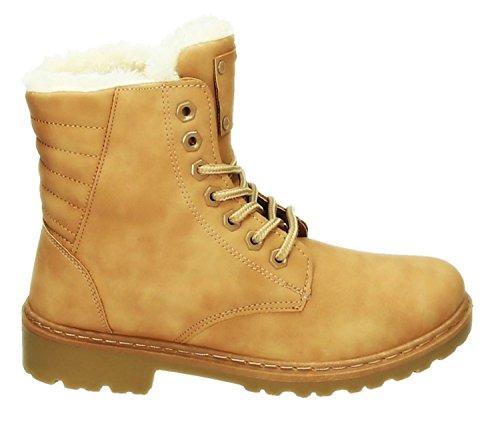 Robuste Damen Stiefeletten Worker Schnür Boots Knöchelhohe Schnürstiefel Winter Schuhe Kurzschaft Warm Gefüttert 099 Pink
