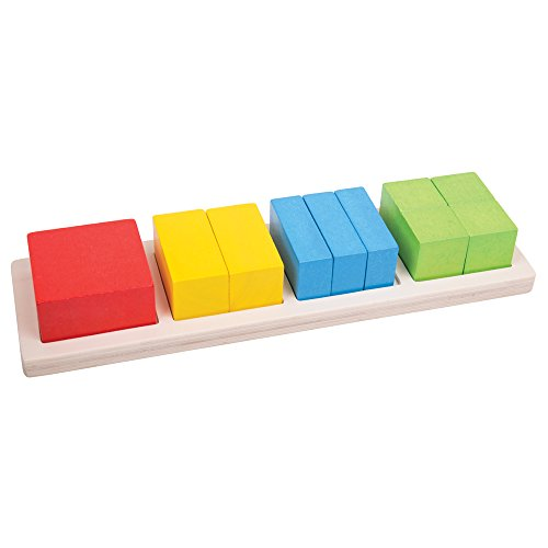 onal Wooden Square Fraction Board (Bigjigs Toys)