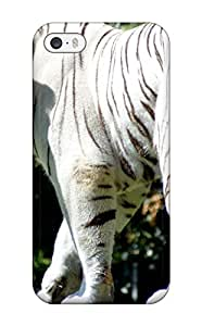 Jim Shaw Graff's Shop 2598324K56824730 Case Cover Protector For Iphone 5/5s White Bengal Tiger Case