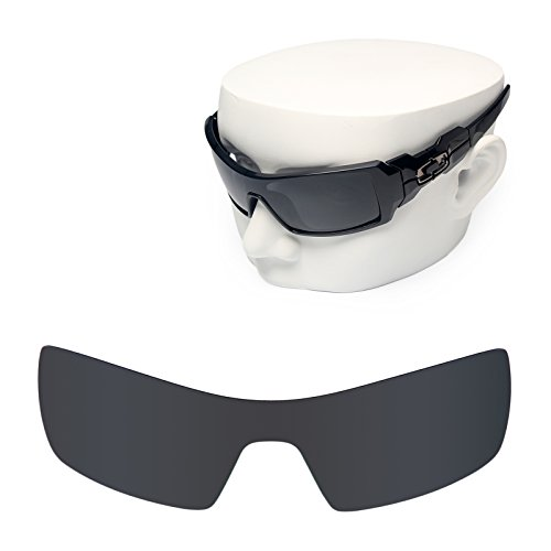 OOWLIT Replacement Sunglass Lenses for Oakley Oil Rig Black Dark - Oil Sunglasses Oakley Rig