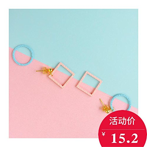 Dumplings original Sketchpad and Marshal girl colorful mixed colors minimalist geometric 18K gold-plated earrings hypoallergenic
