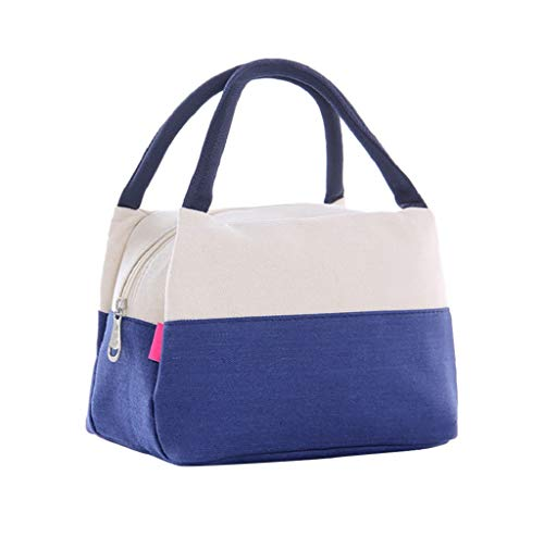 acction Fashion Patch Colors Picnic Case Portable Insulated Thermal Cooler Lunch Box Carry Tote Storage Bag ()