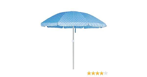 Sombrilla Playa Parasol Azul de Aluminio de Ø 220 cm - LOLAhome: Amazon.es: Hogar