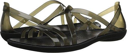 Crocs Women's Isabella Strappy W Flat Sandal, Black, 8 M US by Crocs