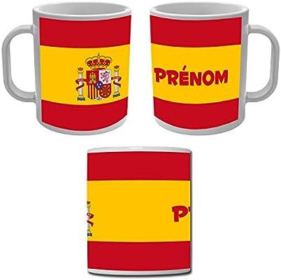 Yonacrea - Taza con la bandera de España personalizable con el nombre: Amazon.es: Hogar