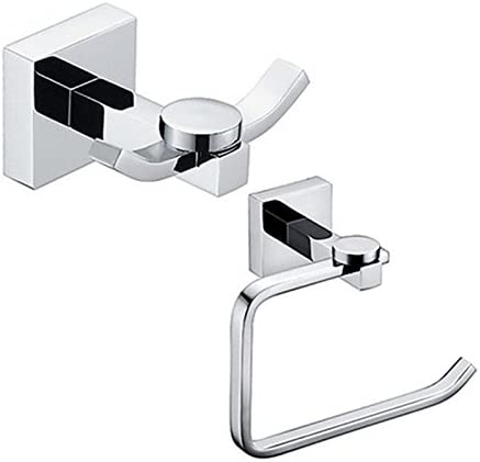 Amazon Com Lightinthebox Contemporary Wall Mounted Chrome Bathroom Accessory Set Toilet Paper Holder Robe Hook Toilet Roll Holder Brass Home Kitchen