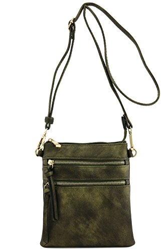 Bag Crossbody Pocket Functional Gold Multi Antique qSTFnxvE