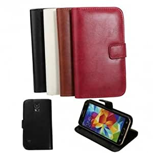 Crazy Horse Line PU Leather Case For Samsung Galaxy S5 --- Color:Red