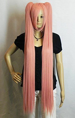 Used, 43 Inch Long Straight Pink Wigs Party Cosplay Wigs for sale  Delivered anywhere in USA