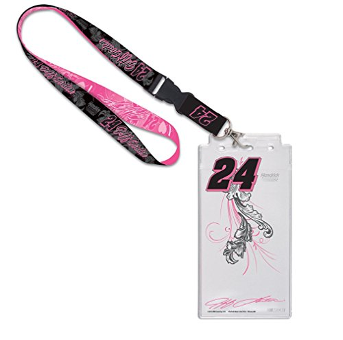 Jeff Gordon Credential Holder w/Lanyard PNK/BLK