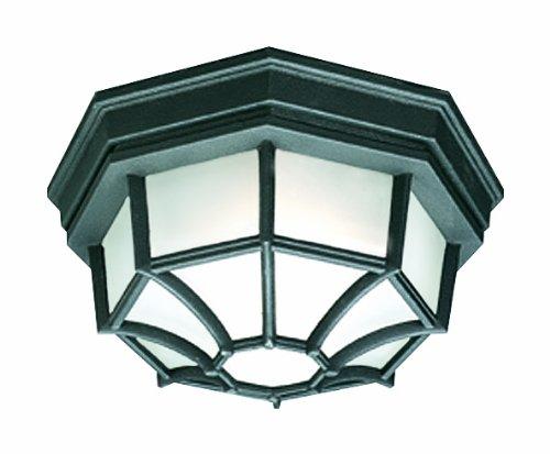 Thomas Lighting SL7457 Outdoor Essentials Outdoor Ceiling Light, Black