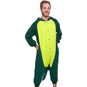 Silver Lilly Unisex Adult Pajamas – Plush One Piece Cosplay Animal Dinosaur Costume