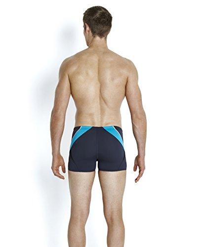 Speedo Fit Splice Short de Bain Homme, Gris, FR : 36 (Taille Fabricant : 36)