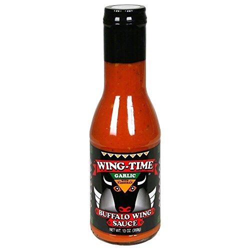 Wing Time Garlic Buffalo Sauce, 13 Oz (Case of 6) ()
