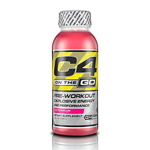 Cellucor C4 On The Go Pre Workout Energy Drink Supplements, Watermelon, 12 Count