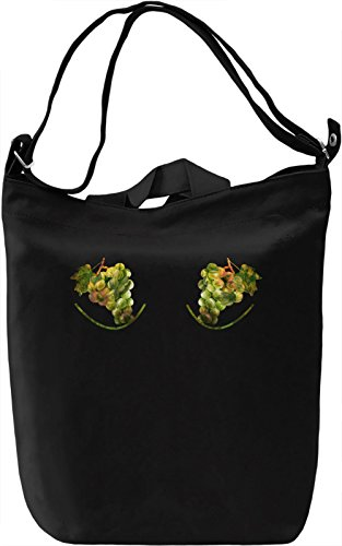 Grape Boobs Borsa Giornaliera Canvas Canvas Day Bag| 100% Premium Cotton Canvas| DTG Printing|