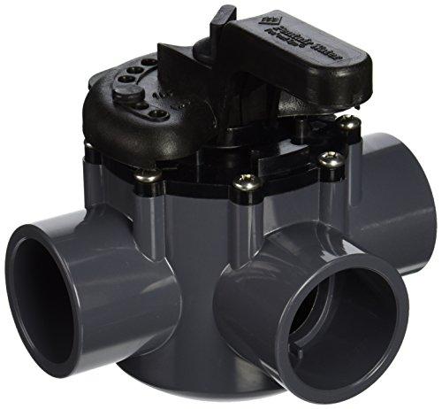 Pentair 263036 Grey/Black Diverter Valve 2-Way 1-1/2-Inch (2-Inch slip Outside), CPVC