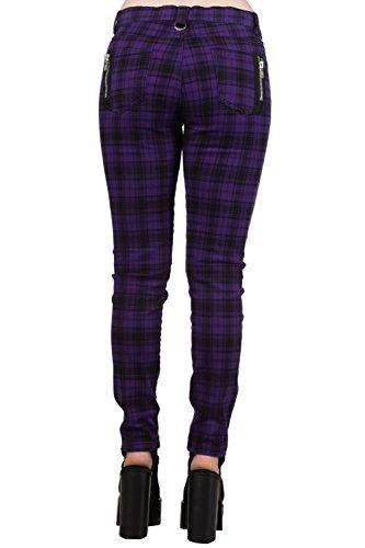 Banned Apparel - Pantalón - para mujer Cheque Púrpura