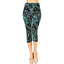 VIV Collection Print Brushed Ultra Soft Capri Cropped Leggings Regular and Plus (Sizes XS - 2XL) Listing 1