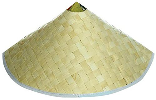 U.S. Toy Adult Woven Costume Accessory Coolie Conical Chinese Hat