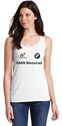 ZETAMARKT Tshirt Canotta Donna BMW Motorrad Team Italia Auto Racing Personalizzata
