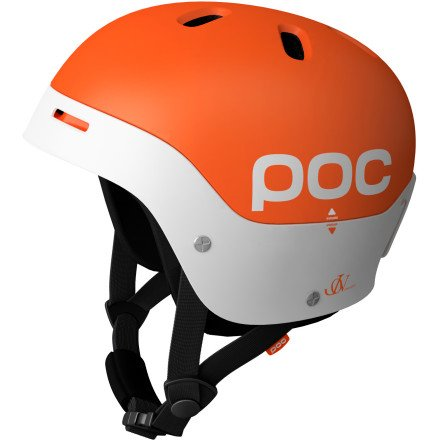 POC Frontal Helmet (Orange/White, Medium/55-56), Outdoor Stuffs