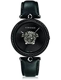 Women s  Palazzo Empire  Swiss Quartz Stainless Steel and Leather Casual  Watch, Color  Versace 17b31942040
