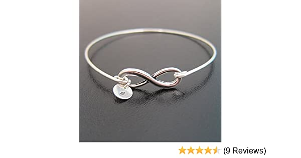 a07bb5b2c Amazon.com: Infinity Bracelet Personalized with Initial Charm: Handmade