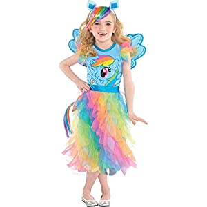 Suit Yourself Rainbow Dash Halloween Costume, My Little Pony, Small, Includes Dress, Headband, Wings, and Tail