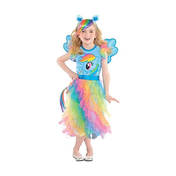 Suit Yourself Rainbow Dash Halloween Costume, My Little Pony, Small, Includes Dress, Headband, Wings, and Tail 3