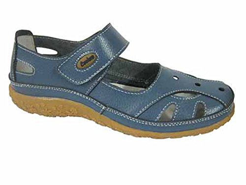 Mary Verano Azul Mujer Arándano Cuero Coolers Jane Zapatos de Bailarinas 1E0yw