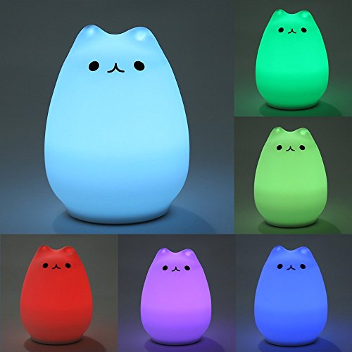 Discount Andersonlight Silicone 7-Color Changing LED Night Light Toy for Kids Friend Family Gift supplier