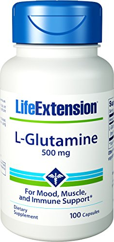 Prolongation de la vie - L-Glutamine | 500 mg, 100 gélules