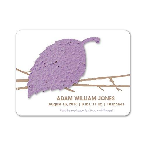 Purple Birth Announcements - 7