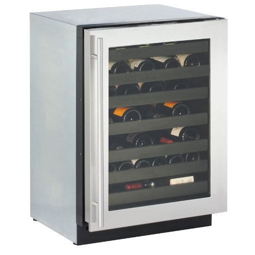 "3024WCS-00 U-Line Modular 3000 Series 24"" Wine Captain Digitally Controlled Single-Zone Convection Cooling System - Right Hinge - Stainless Steel"