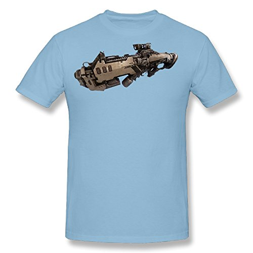 Captain America Cheap Ship - TAUYOP Men's Space Ships T-shirts SkyBlue M