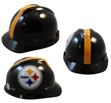 NFL Team Safety Helmets with One Hand Adjustable Suspension Suspension - Pittsburgh Steelers
